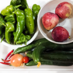 広島県の旭土質調査・家庭菜園で収穫した野菜